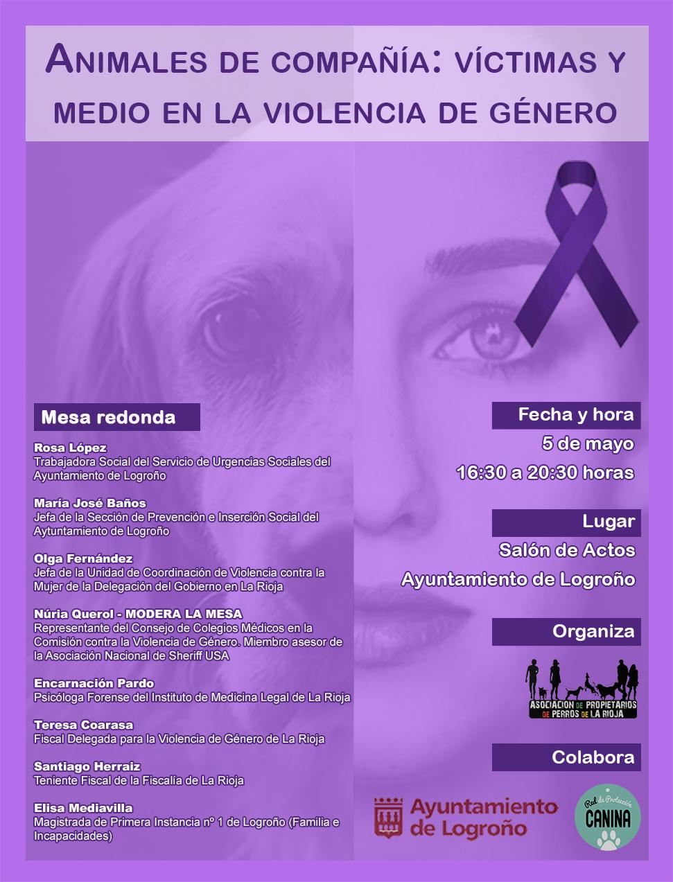 I Jornadas - Animales de compañía: víctimas y medio en la violencia de género