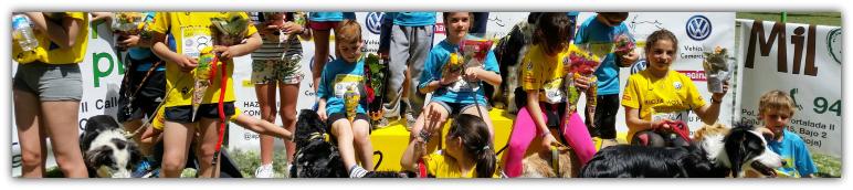Más de 4.000 escolares han participado en los talleres de canicross y 77 han competido en los Juegos Escolares