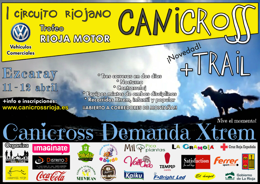 Cartel canicross Ezcaray