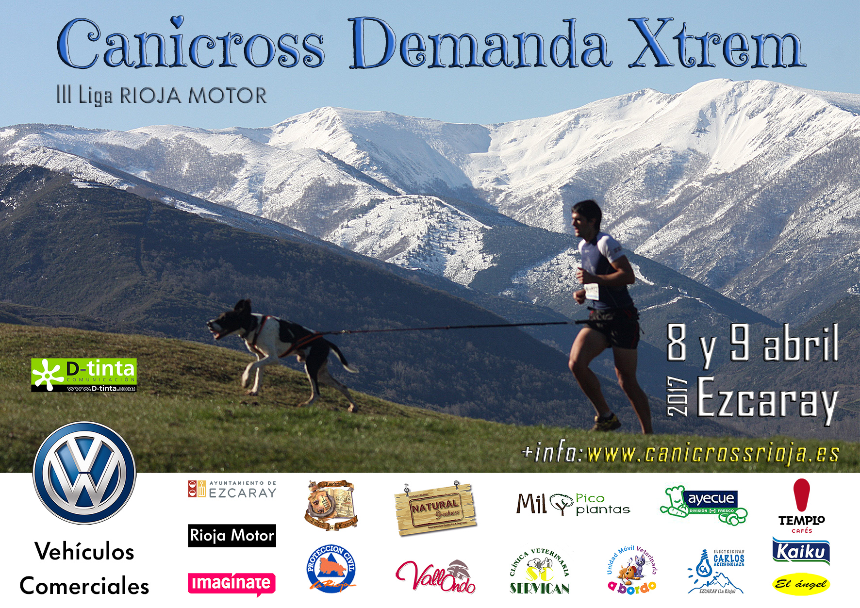 Cartel Canicross Demanda Xtrem